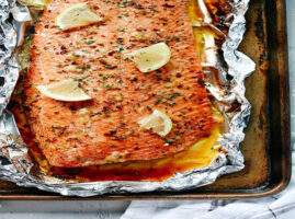 filete de salmon al horno con mantequilla facil