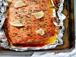 filete de salmon al horno con mantequilla facil