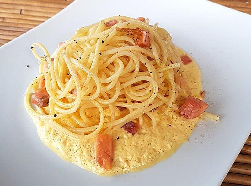 Receta como hacer espagueti con filete de pescado facil