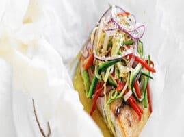 receta para filete de pescado empapelado