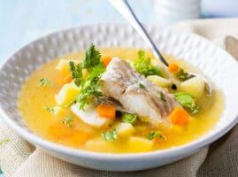 receta de caldo de pescado con verdura tilapia casero
