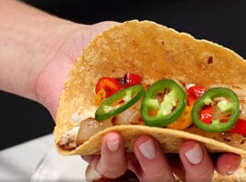 tacos de tilapia salteados