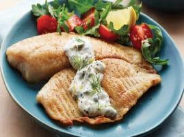 Recetas de pescado tilapia en salsa con champiñones