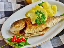 pescado al limón y mantequilla