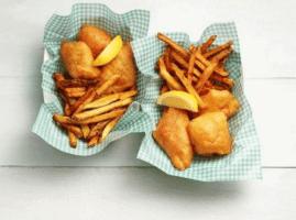 filetes de pescado fritos con cerveza
