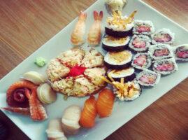 menu de sushi roll